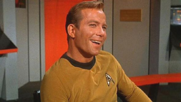 William Shatner as Captain Kirk Star Trek