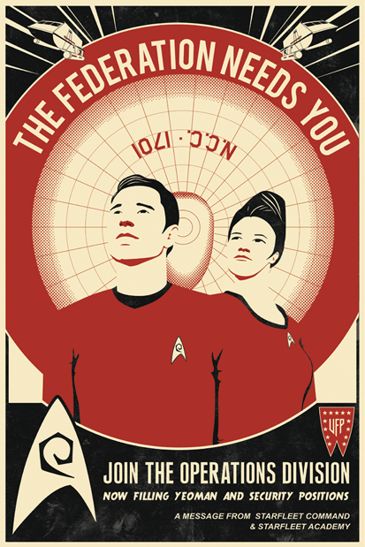 Bye Bye Robot Star Trek Red Shirt Recruitment by Steve Thomas